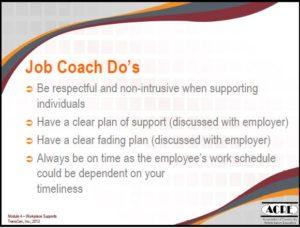 Job Coach Dos