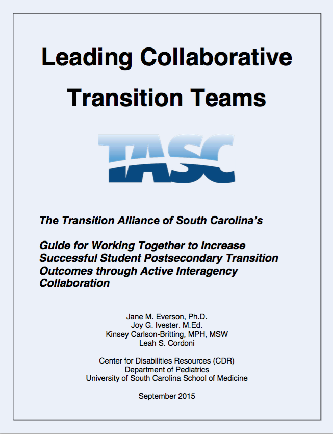 Transition Alliance of SC Teaming Manual