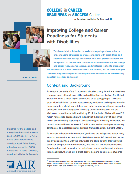 a discussion on special assistence to students with disabilities Computer-assisted instruction improves instruction for students with disabilities the programs cited in this discussion tutoring or special.