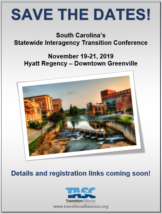 Statewide Transition Conference For >> 6th Annual South Carolina State Transition Conference
