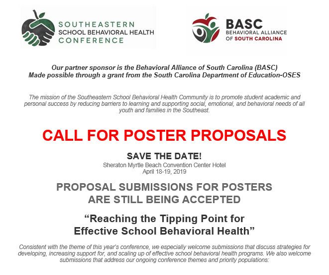 BASC Call for proposals flyer